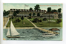 Bradenton Fl Florida (Manatee County) Maravista Hotel, dock, boats, tiny people