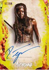 Walking Dead Survival Box Autograph Card Danai Gurira As Michonne 51/99