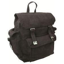 Highlander Large Pocketed Web Army Style Canvas Backpack 5034358080198 Black
