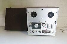 VINTAGE AKAI X-100D SOLID STATE CUSTOM DECK REEL TO REEL PLAYER WITH COVER WORKS