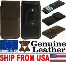 # CHIC FLAP REAL GENUINE LEATHER BELT CLIP CASE COVER POUCH - RANGE OF MODELS