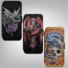 Fire Dragon Fantasy FLIP WALLET PHONE CASE COVER FOR IPHONE SAMSUNG HUAWEI
