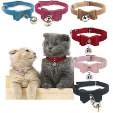 Pet Bell Collar Cat Kitten Collar Bow Tie Pet Neck Chain For Cats Dogs Pet Cute