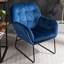 Vintage Distressed Velvet Armchair Button Chair Lounge Fireside Single Seat Sofa