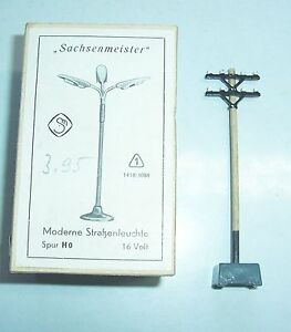 Sachsenmeister Original Box H0 Modern Street Lamp+Telegraphenmast