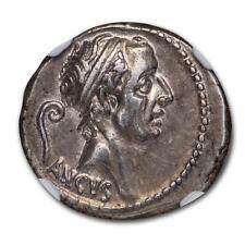 Roman Republic Ar Denarius L. Marcius Philippus (57 Bc) Au Ngc - Sku#212552