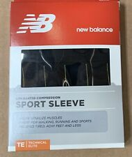 New Balance  Calf Compression Sport Sleeve Black / gold Technical Elite LARGE