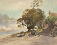 Charles Edward Hannaford RBA (1863-1955) - Watercolour, River Cottage