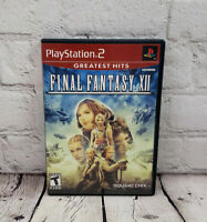 Final Fantasy XII (Sony PlayStation 2, 2006) PS2 Complete works great free ship