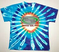 Dave Matthews Band Everyday Concert Tour 2002 Tie Dye T-Shirt Sz XL Delta NOS!