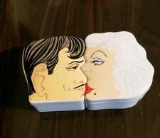 1978 Aldon Japan Porcelain Clark Gable Jean Harlow Kissing Trinket Boxes vintage