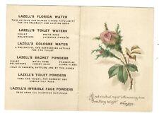 Old Trade Card Lazells Perfumers New York Perfume Toilet Water Powder Rose Bud