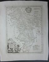 1786c DERBYSHIRE original map East Midlands England United Kingdom Grose Kitchin