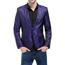 Vintage Mens Floral Long Sleeve Business Wedding Suit Blazer One Botton Coat HC