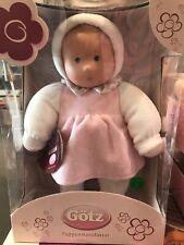 "New Gotz Soft Body Baby Doll 12"" Puppenmanufaktur Baby Plush Doll Girl German"