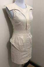 Ladies LUCETTE Beige Nude Stretch Dress. Size 1 (8-10). EUC. RRP $250🧡