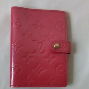 LOUIS VUITTON Verni notebook cover pink Authentic #6352Q