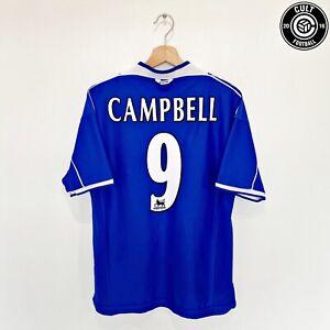 1999/00  CAMPBELL #9 Everton Vintage Umbro Home Football Shirt Jersey (M)