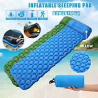 Ultralight Inflatable Camping Hike Air Mattress Blow Up Bed Sleeping Mat wPillow
