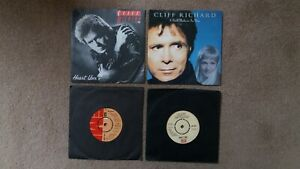 """Cliff Richard - 4 x 7"""" Singles - Heart User, Dreamin', Daddy's Home + 1 other"""