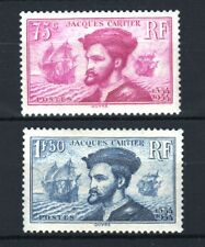 "FRANCE STAMP 296/97 ""JACQUES CARTIER AU CANADA 2 TIMBRES "" NEUFS xx LUXE R823"