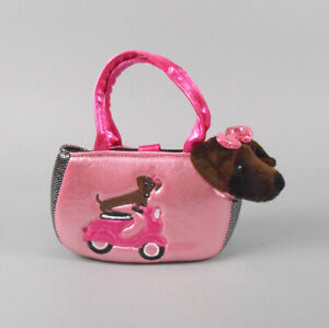 Aurora Fancy Pals Pet Carrier Roxie the Doxie Scooter Plush Animal Toy NWT