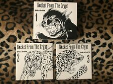 ROCKET FROM THE CRYPT On A Rope 1-3 CD Set 1996 Hot Snakes Pitchfork Drive Jehu
