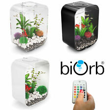 Biorb Life 15 30 MCR LED Colour Change Clear Black White Aquarium Fish Tank