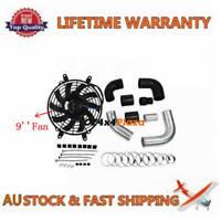 """Turbo Intercooler Pipe Kit+9""""Fan For Nissan GU ZD30 DI Patrol Diesel"""