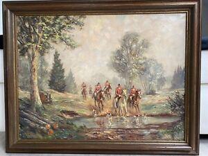 Ölgemälde Jagd von Willy P. Ahrweiler
