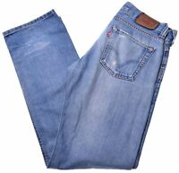 LEVI'S Mens 506 Jeans W32 L34 Blue Cotton Straight  AZ04