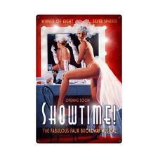 Showtime Broadway Musical Pin Up Pinup Chorus Girl Tin Metal Steel Sign 24x36