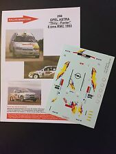 DECALS 1/43 OPEL VAUXHALL ASTRA THIRY RALLYE MONTE CARLO 1993 WRC RALLY