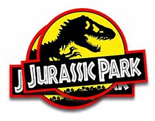 Jurassic Park Movie Decals (2) Removable Magnets Car Jeep