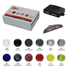 Sonic Reverse Rear Parking 4 Sensor Aid Kit LED Display Painted Silver/Black/Red