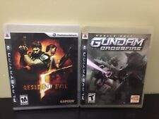 2 PS3 Games Resident Evil 5 & Gundam Crossfire Free shipping