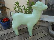 Ancien sujet en céramique craquelée 1930 chevreau bébé  chèvre