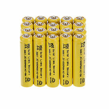 US Sale 15 x Yellow AAA 1.2V 600mAh Ni-MH Rechargeable Batteries For Solar Light