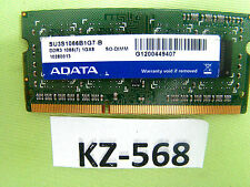ADATA 1gb SO-DIMM 1rx8 DDR3 1066 1gx8 su3s1066b1g7-b #kz-568