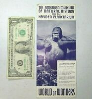 Vintage 1939 new York World's Fair Brochure-American Museum of Natural History