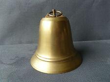 Ancienne cloche en laiton avec mécanisme, art populaire old french