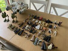 Large Job Lot Bundle of Star Wars  42 x figures 3 vehicles Millennium falcon