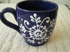 STARBUCKS COFFEE BLUE SNOW FLAKE BARISTA 2003 MADE IN ITALY CERAMICHE TOSCANE