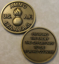 Ammo IYAAYAS Provide Enemy Air Force Challenge Coin      BrS