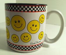 SMILEY FACE ARTIST SIGNED SUSAN BURGER COFFEE TEA MUG CUP FLOWERS INC. BALLOONS