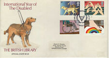 BRITISH LIBRARY FDC 1981 YEAR OF THE DISABLED No 24