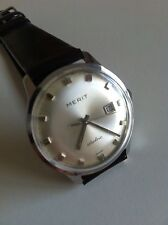 Vintage Stowa Merit Wristwatch Rare Thunderbolt Electric-Mechanical Watch Works
