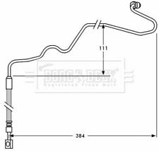 # BORG BBH7534 BRAKE HOSE Rear,Rear RH,Right
