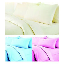3PC BABY COT BED LUXURY EGYPTIAN COTTON SET: FITTED, DUVET COVER & PILLOW CASE