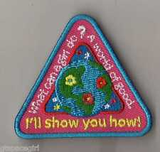 Girl Scouts Cookie Patch~2014~What can a girl do? A world of good~Earth Triangle